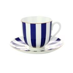Фарфоровые кофейные чашка с блюдцем Да и Нет