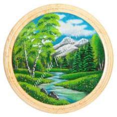 Насыпное панно на тарелке Летний пейзаж (60 см)