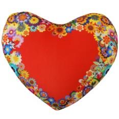 Антистресс подушка-сердце Цветы