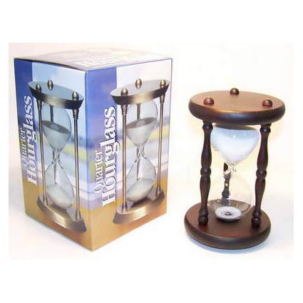 Часы песочные деревянные 15 минут