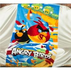 Детское махровое полотенце 75х150 Злые птицы