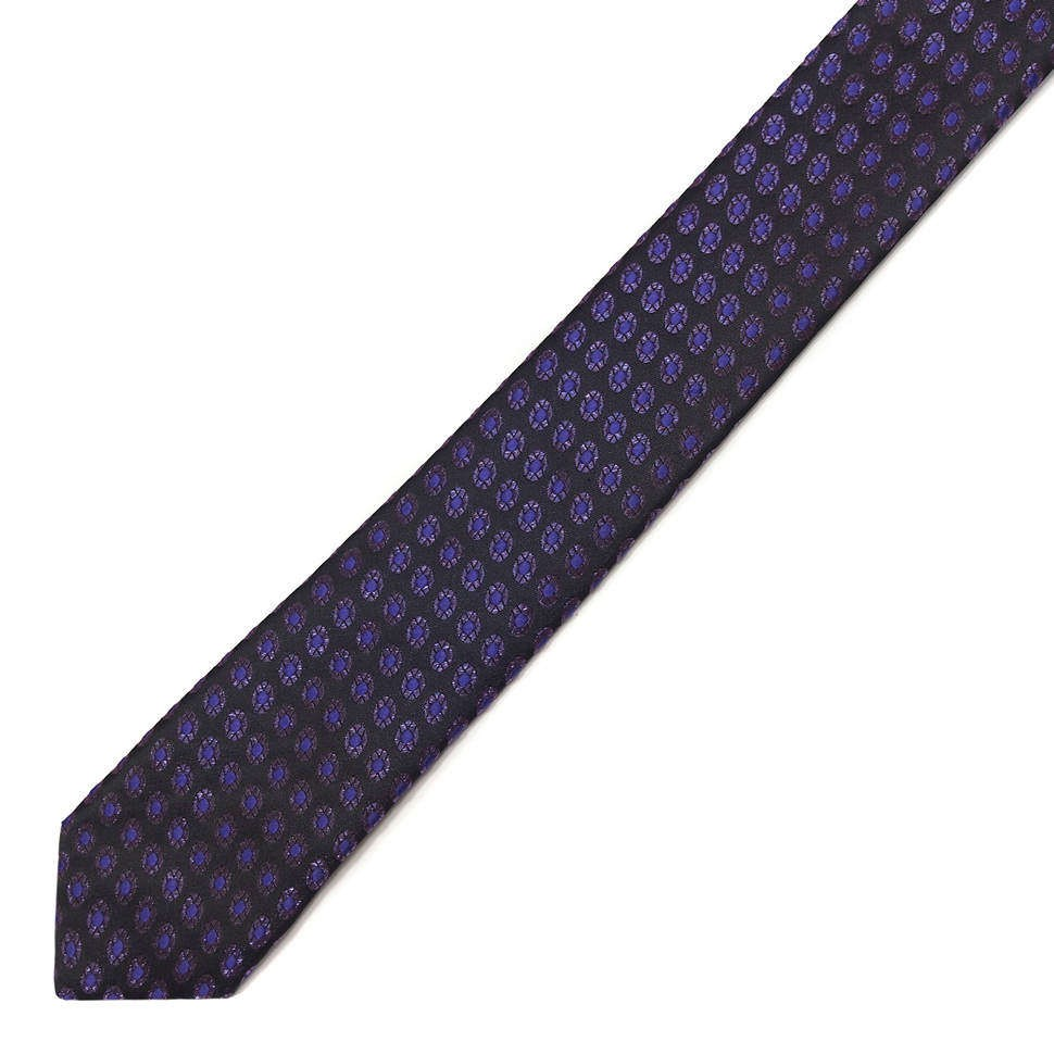 Синий жаккардовый галстук