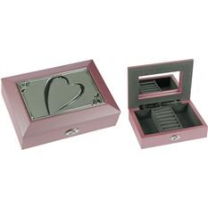 Шкатулка ювелирная Moretto Сердце, розовая