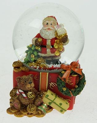 Водяной шар Дед Мороз, с подарками