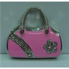 Флешка со стразами Розовая сумочка