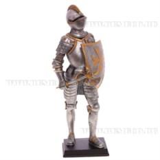 Декоративная фигурка Рыцарь (цвет — серебристый)