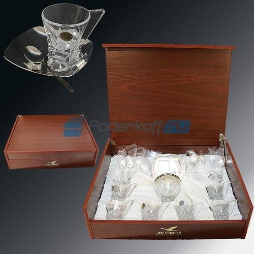 Кофейный набор на 6 персон Хрусталь