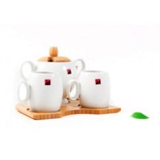 Чайный набор на 2 персоны на бамбуковой подставке