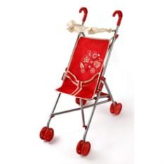 Металлическая коляска-трость для кукол Божья коровка