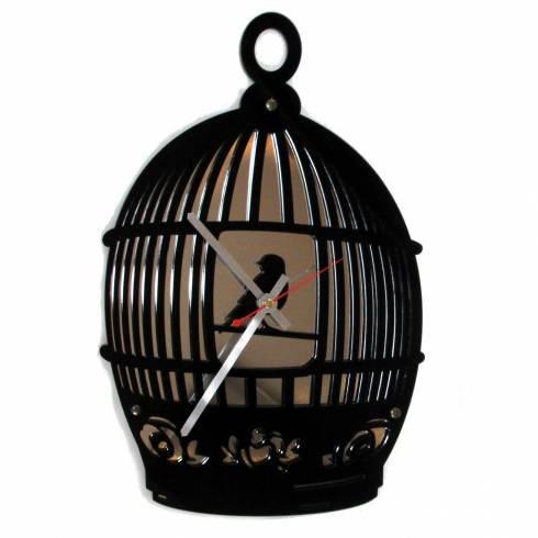 Необычные часы Птичка в клетке