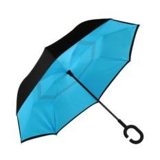 Голубой ветрозащитный зонт-наоборот Up Brella