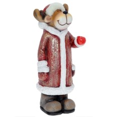 Декоративная фигурка Олень в красной шубке