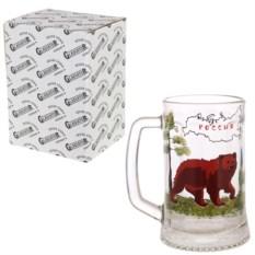 Кружка для пива в упаковке Россия