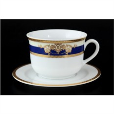 Набор чайных пар Яна. Кобальтовая лента