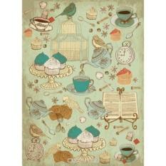 Рисовая бумага для декупажа Craft Premier Мятный чай (28,2х38,4 см)