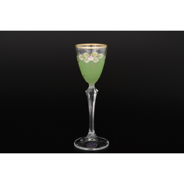 Набор матовых зеленых рюмок для водки из 6 предметов