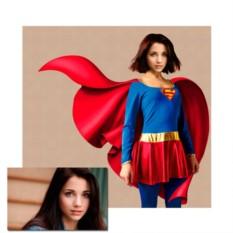Портрет девушка Супергерой