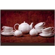 Чайный фарфоровый сервиз София на 6 персон, 15 предметов