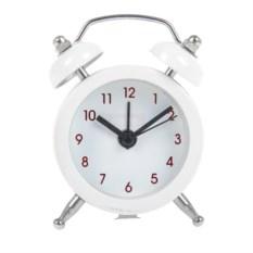 Белые часы-будильник Малыш
