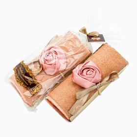 Столовое полотенце Рулет (роза в карамели)