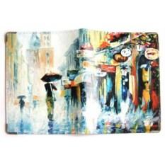 Обложка на права из кожи Дождь в Париже