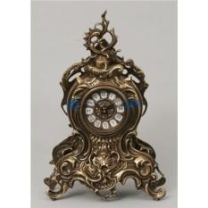 Каштановые часы из бронзы с завитком