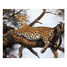Картины по номерам «Леопард на отдыхе»