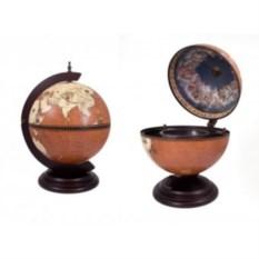 Настольный глобус-бар из дерева
