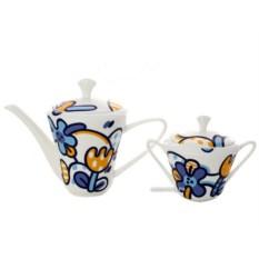 Чайный сервиз на 6 персон Эмилия синяя