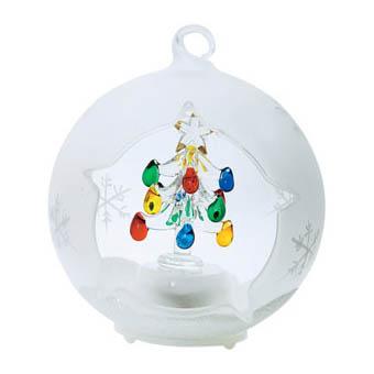 Ёлка в шаре с меняющей цвет подсветкой