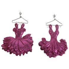 Елочная игрушка Карнавал розового цвета