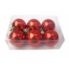 Новогодние глянцевые красные шарики Irit