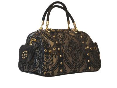 Женская сумочка Sergio Valentini (золото на чёрном)