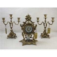 Каминные часы с канделябрами Лето
