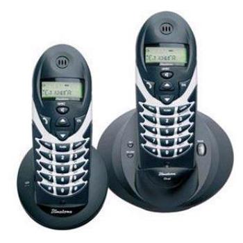 Радиотелефон Binatone Oval Twin  XD 1220 BS/BZ