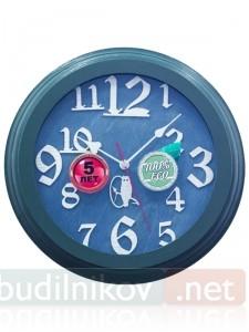 Настенные часы, деревянные, 30 см, синие