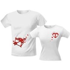 Футболки для влюблённых «Стрела Амура»