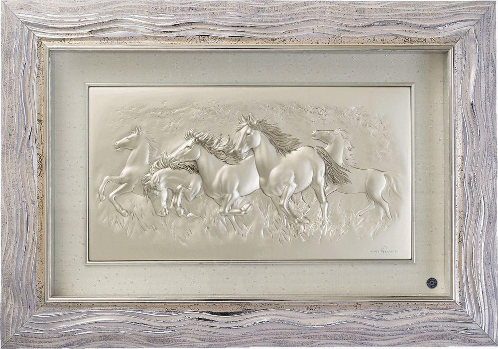 Серебряная картина Cavalli