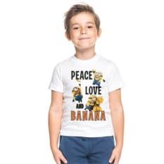 Детская футболка Peace love and banana