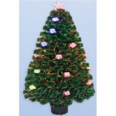 Оптоволоконная искусственная светящаяся елкас подарком