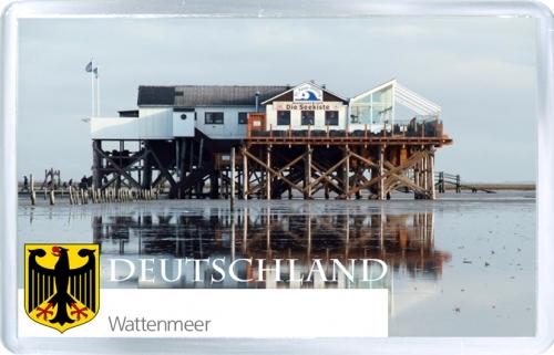 Магнит на холодильник: Германия. Ваттовое море