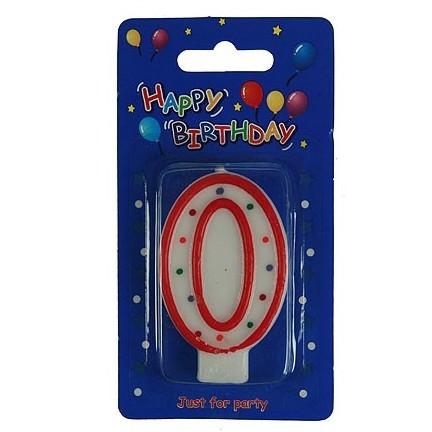 Свеча-цифра для торта 0