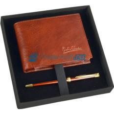 Набор портмоне и шариковая ручка Giulio Barсa