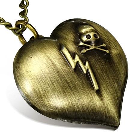 Подвеска Respect Steel Сердце-часы