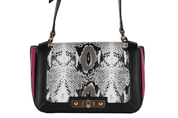 Серая кожаная женская сумка Leo Ventoni