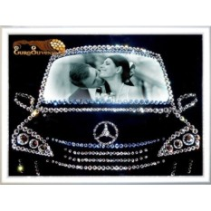 Картина Swarovski Фоторамка в машине 414 кристаллов, 15х20 см