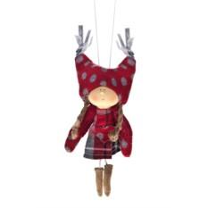 Декоративная кукла Девочка в клетчатом платье