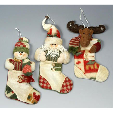 Новогодние игрушки на камин своими руками