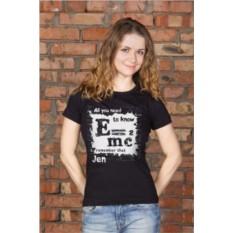 Женская футболка с вашим текстом Формула
