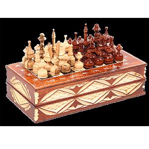 Шахматы «Русские узоры»  13 х 26 см